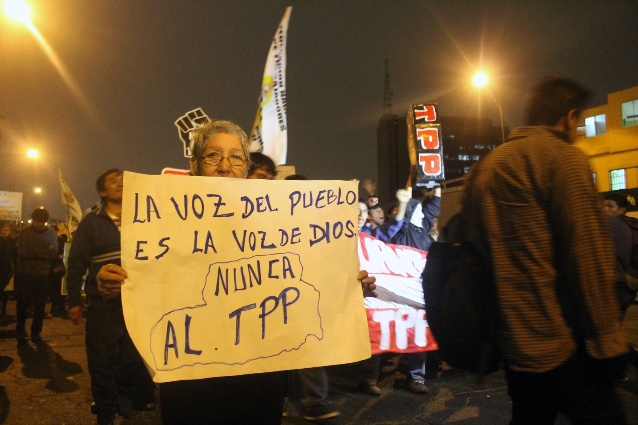 Marcha contra el TPP: el conflicto detrás de la protesta