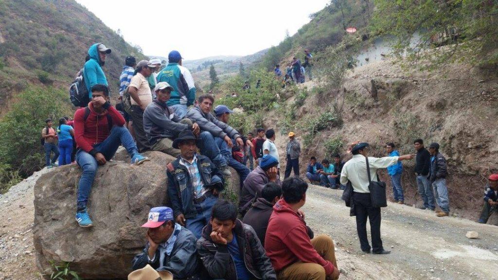 Comuneros de Alpamarca en pleno paro/ Foto: Pataz Noticias