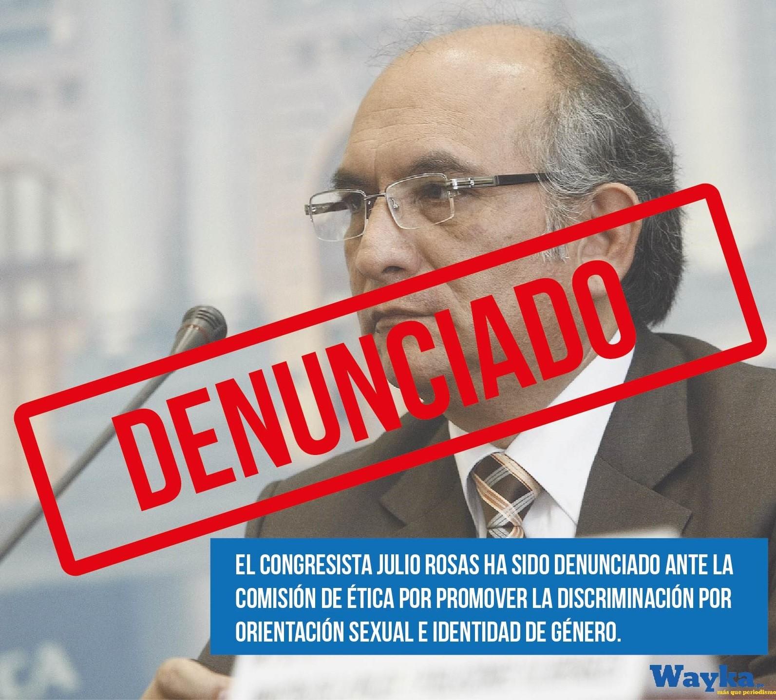 Julio Rosas es denunciado por discriminación