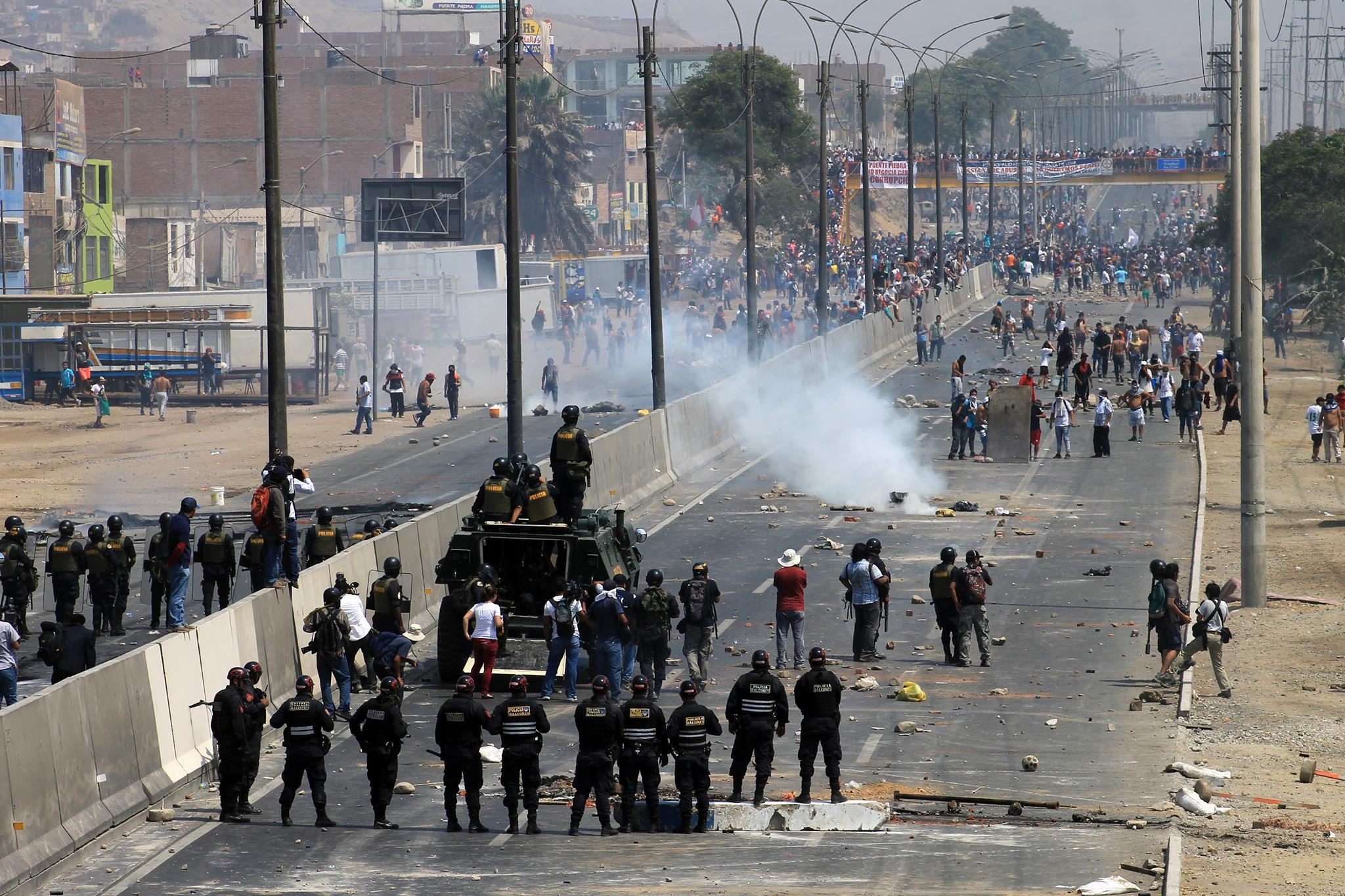 Protesta contra el peaje de Puente Piedra | Foto: Juan Zapta