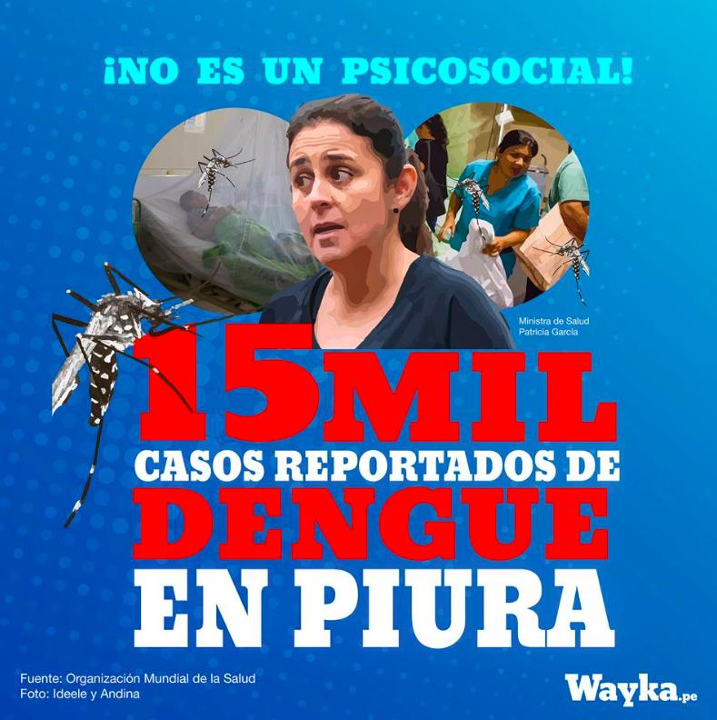 Piura: 15 mil casos de dengue no son un psicosocial
