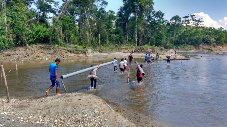 Pueblo wampís desaloja a mineros ilegales en Amazonas