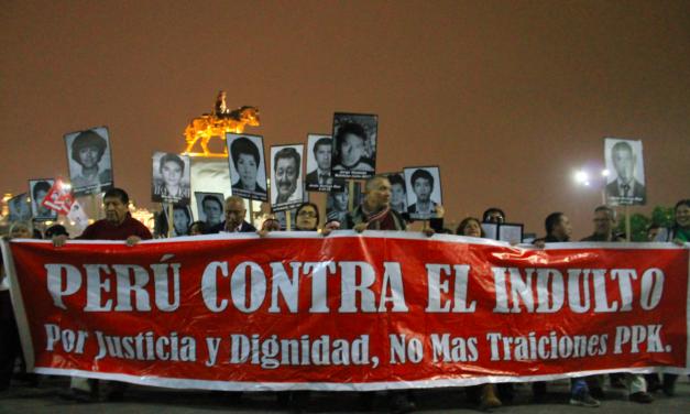 Plantón contra el indulto a Fujimori