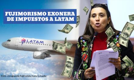 Fujimorismo absuelve de impuestos a empresas aeronáuticas