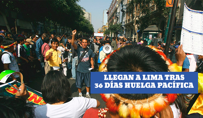 Lote 192: indígenas llegan a Lima tras 36 días de huelga pacífica