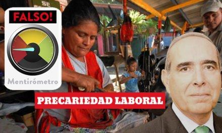 Mentirómetro: La informalidad y la precariedad del empleo