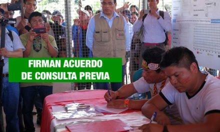 Gobierno firma acuerdo con comunidades del lote 192