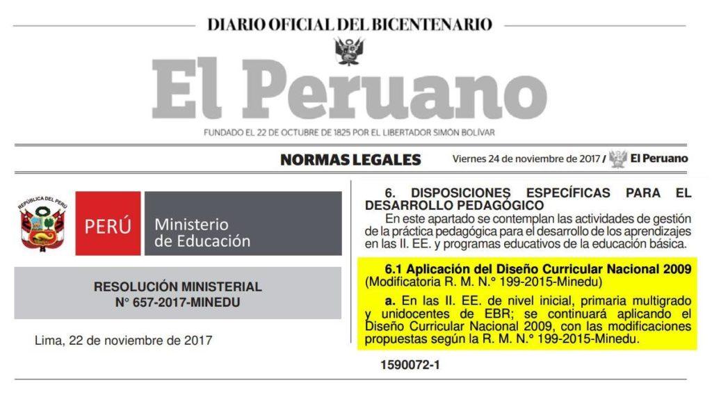 Minedu implementar nuevo curr culo escolar de manera for Nuevo curriculo de educacion inicial