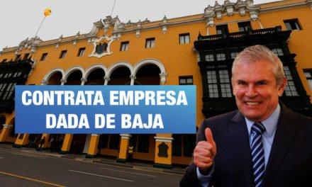 Municipalidad de Lima contrata empresa de baja en Sunat para obra en Aramburú