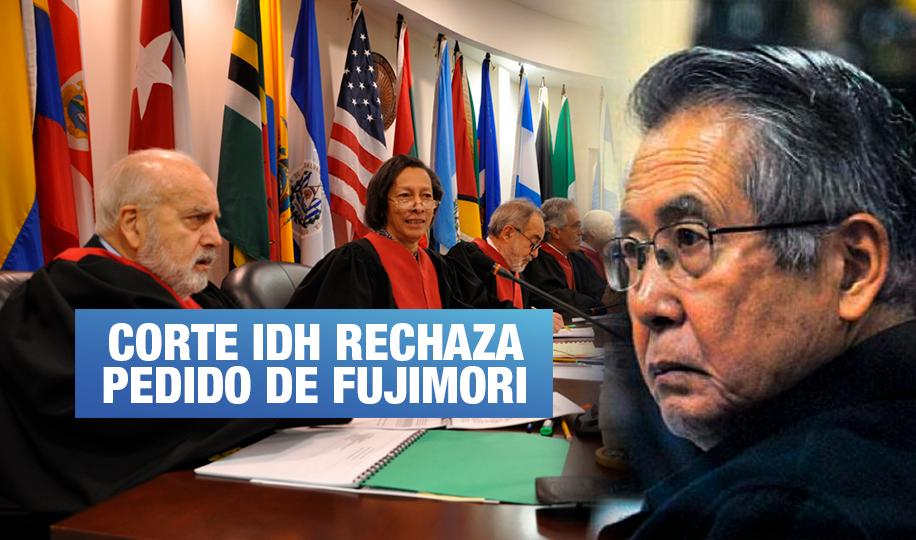 Corte IDH rechaza pedido de Fujimori de participar en audiencias de Barrios Altos y La Cantuta