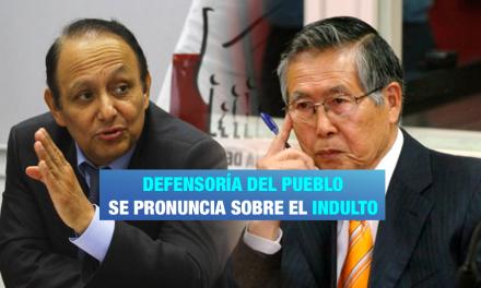 """Defensoría del Pueblo: """"Indulto transgrede la Constitución"""""""