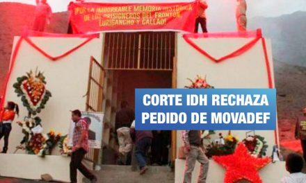 <H1>Corte IDH rechaza pedido de Movadef para evitar demolición de mausoleo</H1>-<p style='font-weight: normal;'>Miguel Canales Sermeño, miembro del Movadef, pidió a la Corte Interamericana de Derechos Humanos ordenar que el Estado peruano se abstenga de demoler la construcción.</P></H6>