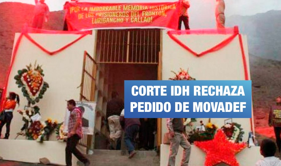 Corte IDH rechaza pedido de Movadef para evitar demolición de mausoleo