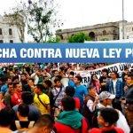 <H1>Estudiantes de institutos y universidades marcharán hoy contra nueva ley pulpín fujimorista</H1>-<p style='font-weight: normal;'>Colectivos de estudiantes se pronunciaron en contra del nuevo régimen laboral formativo que afectaría a estudiantes de institutos superiores. La manifestación está programada para este viernes a las 4 p.m. en Plaza San Martín</P></H6>