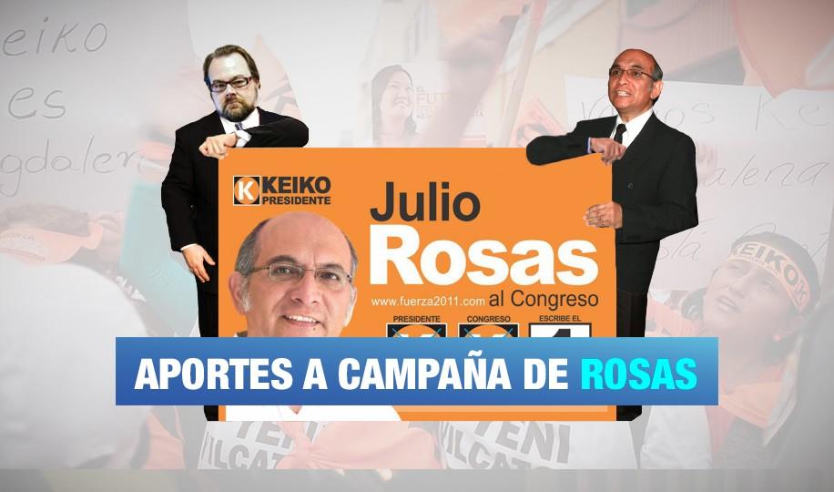 Financiamiento a la campaña de Julio Rosas