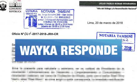 Wayka responde la carta notarial enviada por el congresista Julio Rosas