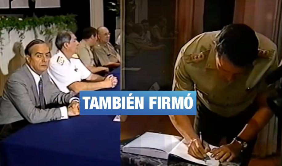 Ministro de Defensa José Huerta también firmó el 'Acta de Sujeción' de Montesinos