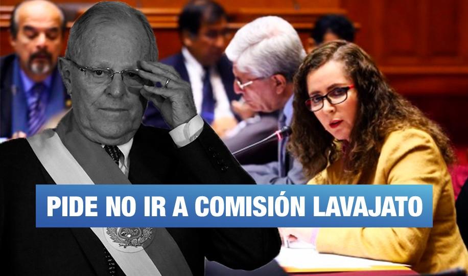 PPK pide no ser investigado en la Comisión Lava Jato del Congreso