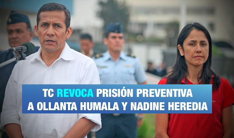 Ollanta y Nadine saldrán en libertad