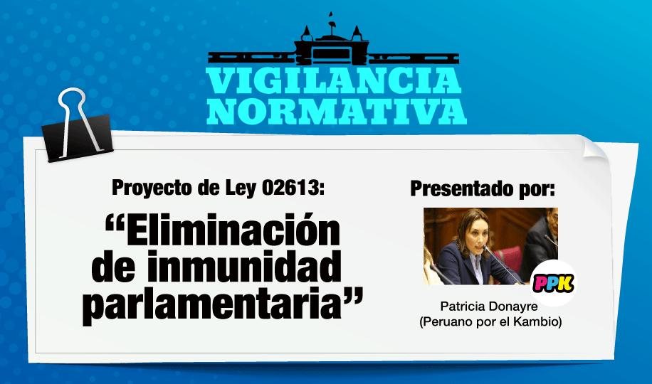 ¿Eliminación de inmunidad parlamentaria?