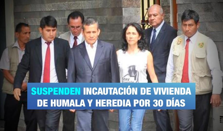 Suspenden incautación de vivienda de expareja presidencial