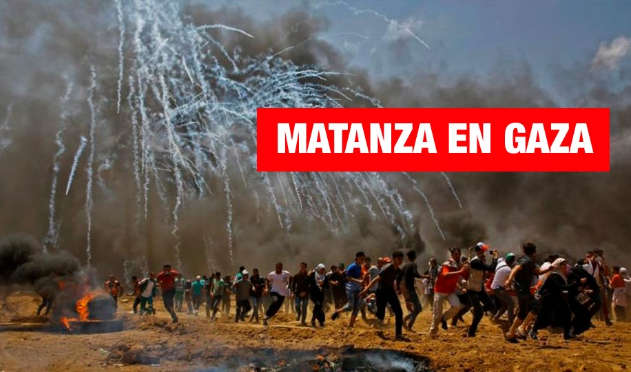 Gaza es bombardeada por protestar contra Estados Unidos