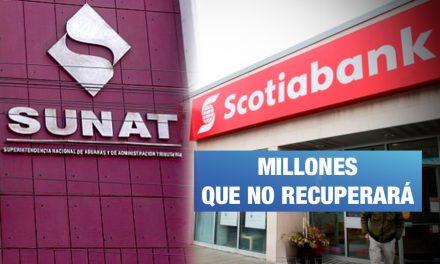 Sunat gana juicio a Scotiabank por S/ 48 millones