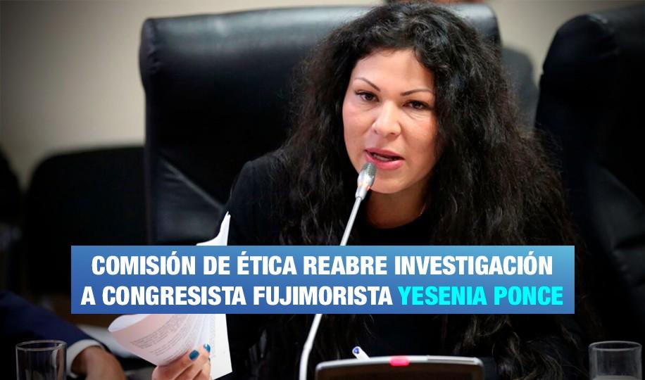Reabren investigación contra Yesenia Ponce
