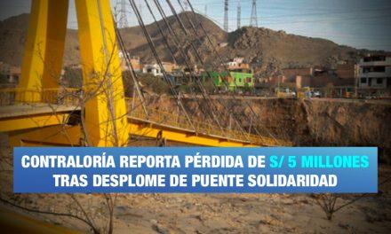 Contraloría detecta irragularidades en puente Solidaridad