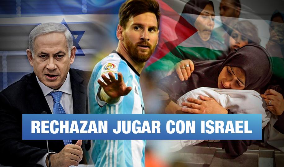 Selección argentina boicotea a Israel