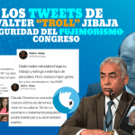 Los tweets amenazantes de Walter Jibaja, Jefe de seguridad del Congreso