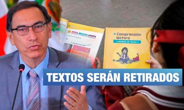 """Vizcarra sobre textos escolares: """"Hay que cambiarlos y corregirlos"""""""