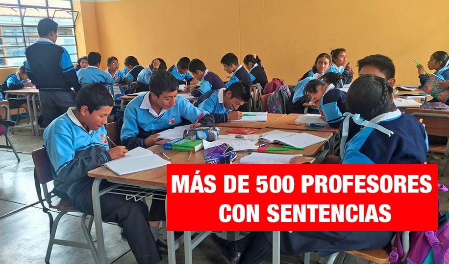583 profesores destituidos tienen sentencias por violación sexual