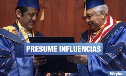Audio: Rector de la universidad Garcilaso alardea de contactos con CNM y congresistas