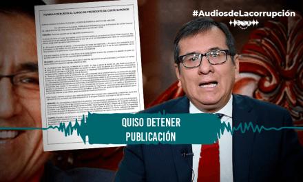 Las últimas horas de Marco Cerna como presidente de la corte de Lima Sur