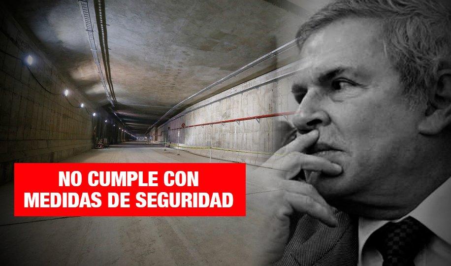 Detectan riesgos en infraestructura del túnel del proyecto Línea Amarilla