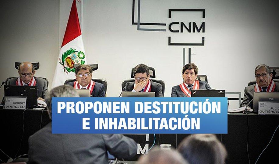 Cinco delitos y 7 infracciones constitucionales cometidas por Hinostroza y los exconsejeros CNM