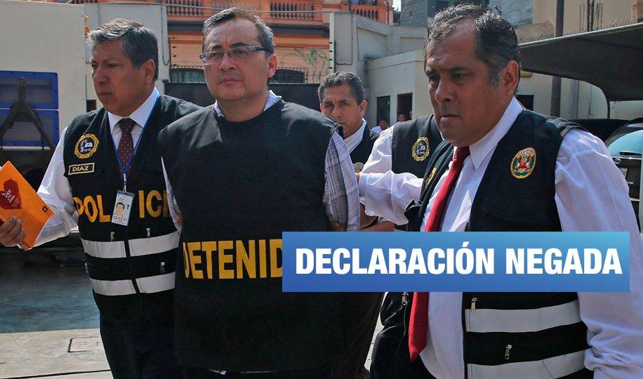 Fiscalía rechazó declaración de Jorge Cuba contra Alan García