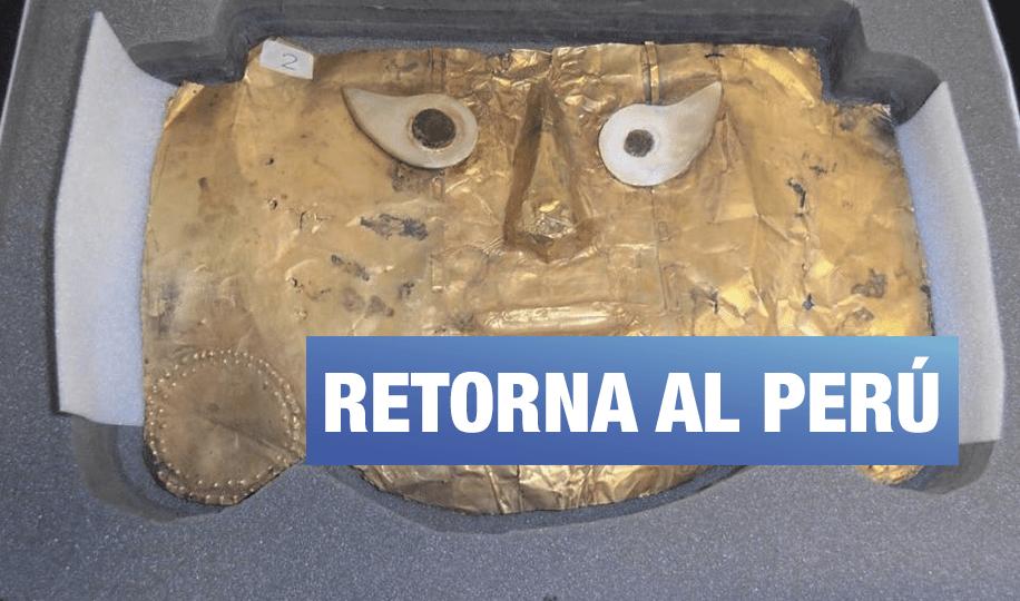 Perú recupera la Máscara de Sicán después de casi 20 años de proceso judicial