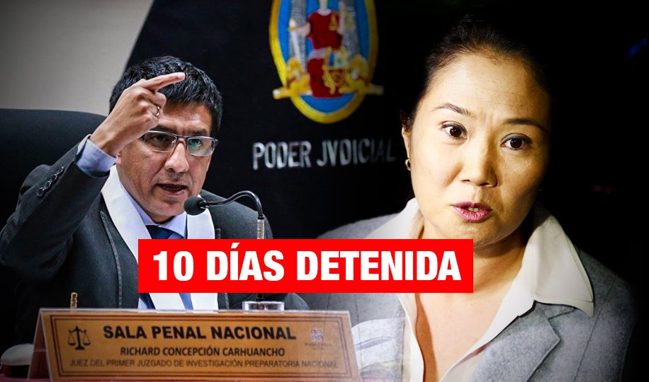 Dictan prisión preliminar contra Keiko Fujimori por caso cócteles