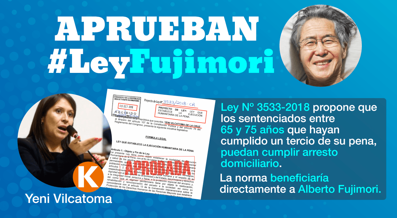 Aprueban #LeyFujimori