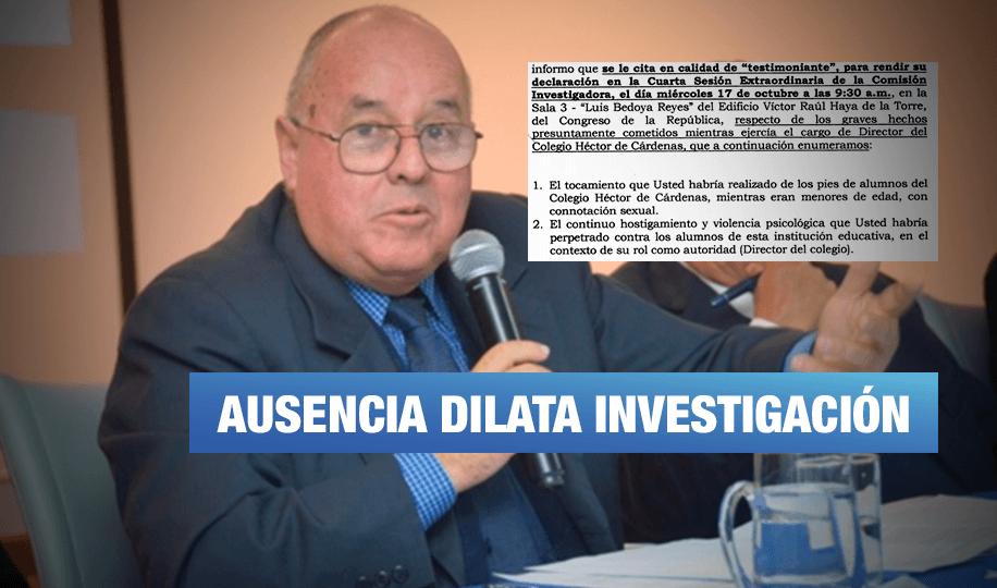 Caso Borea: Exdirector de colegio acusado de abusos sexuales no acude a citación del Congreso