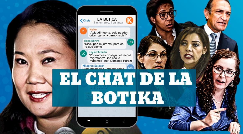 """El chat """"La Botica"""" del fujimorismo"""