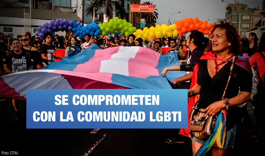 Tres candidatos a la alcaldía firman compromiso con la comunidad LGBTI de Lima