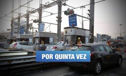 Tarifa del peaje en Vía Evitamiento se incrementa a S/5.70 este domingo