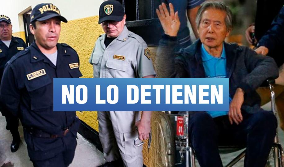 INPE y la PNP evaden responsabilidad sobre Alberto Fujimori