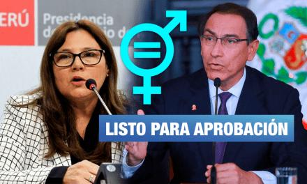 """Ministra de la Mujer: """"Plan Nacional de Igualdad de Género ya está listo"""""""