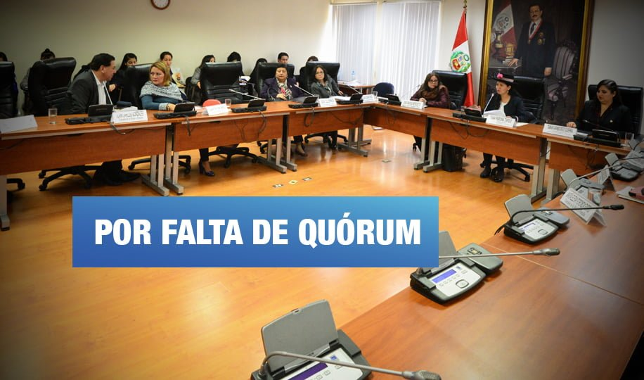 Ausencias fujimoristas frustran cinco sesiones de Comisión de la Mujer