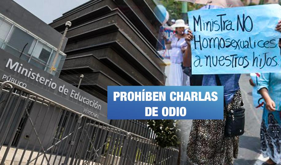 Ministerio de Educación se pronuncia por charlas que promueven el odio en colegios