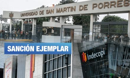 Indecopi multa de más de S/700 mil a universidad San Martín por restringir derechos de sus alumnos